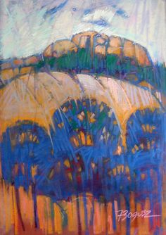 Soft Pastel Expressionist Landscape Painting Vibrant colourful