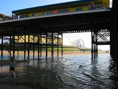 Blackpool Under South Pier Blackpool Beach, Blackpool England, Drainage Channel, Irish Sea, St Anne, Ballroom Dancing, Ballrooms, Places, Water