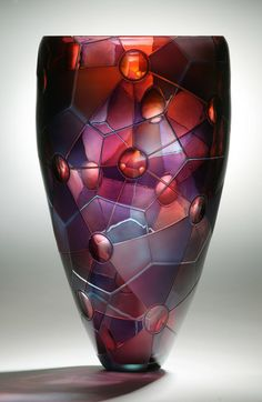 Gorgeous glass colors!  ~ Chemistry II by artist Kevin Gordon