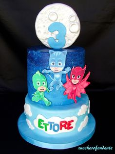 PJ Masks cake! Superheros Gekko, Catboy & Owelette www ...