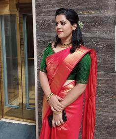 South Indian Bride Saree, Indian Bridal Sarees, Bridal Silk Saree, Saree Wedding, Kerala Bride, Silk Sarees, Bridal Hairstyle Indian Wedding, Indian Bridal Outfits, Christian Bridal Saree