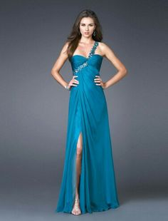 Blue one strap dress