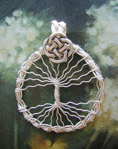Celtic Tree of Life Wire Wrapped Jewelry by RachaelsWireGarden, $20.00
