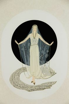 Artist: Romain de Tirtoff Erte (Russian, 1892-1990); Title: untitled; Medium: embossed serigraph.