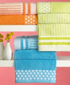 "Bianca ""Dots & Stripes"" Towel Collection - Bath Towels - Bed & Bath - Macy's"