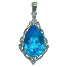 Blue Topaz Necklace with Diamonds https://www.goldinart.com/shop/necklaces/colored-gemstones-necklaces/blue-topaz-necklace-with-diamonds