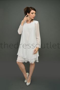 Short Mother of the Bride Formal Dress Long Jacket Plus Size