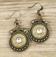 30-06 Bronze Oriental Bullet Earrings