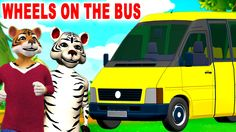 Animal Cartoons for Children Nursery Rhymes | The Wheels On The Bus Top ...