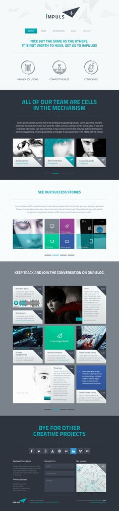 IMPULS Single Page Template by Entiri