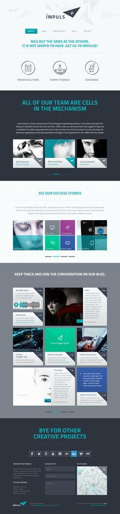 IMPULS PSD Template on Behance #web #ui #design #landing #page
