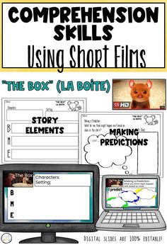 Using short films is a great way to engage ALL learners in the classroom. This resource provides both printable and digital (Google Slides) activities to practice the vcomprehension skills of story elements and making predictions. Perfect for distance learning! #ESLClassroom #ESLTeacher #comprehension skills #shortfilms #elementaryclassroom #middleschoolESL Short Film Stories, Short Films, Predicting Activities, Pixar Shorts, Making Predictions, Story Elements, English Language Learners, Teaching English, Comprehension