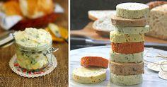 10 receptov na domáce bylinkové maslá, ktoré vaše kulinárske zážitky posunú na ďalšiu úroveň! Domáce ochutené maslá, maslo s bylinkami, korením Camembert Cheese, Food To Make, Cereal, Dairy, Salsa, Breakfast, Recipes, Salsa Music, Restaurant Salsa
