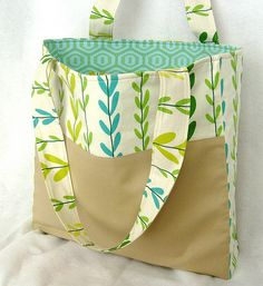 leafy tote | I made this from some lovely japanese leaf fabr… | Flickr