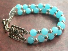 Cool jade beads bracelet made by Anastasiya Markova from LC.Pandahall.com
