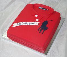 Polo shirt cake! www.creativecakesbykeekee.com