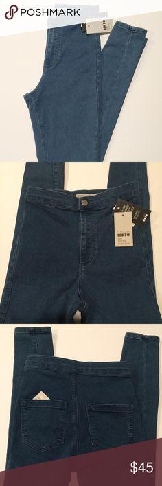 Topshop Moro Joni Super High Waisted Skinny NWT Topshop skinny Jean, Moro Joni. Size 25 waist, 30 length Topshop Jeans Skinny