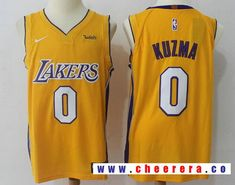 1078ea3f4a7 Men's Los Angeles Lakers Kyle Kuzma New Yellow Nike Swingman Wish Stitched  NBA Jersey