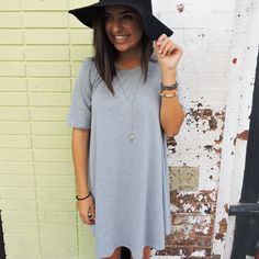 Restock alert! In addition to our sleeveless t-shirt dresses the shortsleeve heather gray is back again as well! #WillyJays #KingStreet #Charleston #ootd