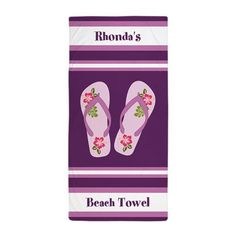 Personalized Beach Towel – I Be Stylin