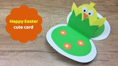 Cute and easy to make easter card great easter craft for kids! #easycardmagic