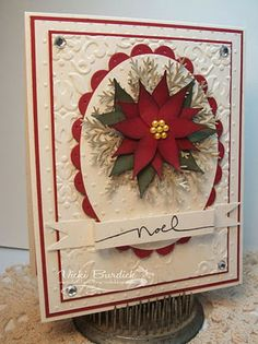 card - Poinsettia made with Build a Blossom Punch