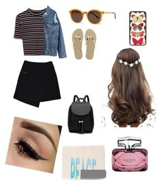 """""""Untitled #12"""" by maycee-markell on Polyvore featuring MARC CAIN, Thierry Lasry, Havaianas, Bobbi Brown Cosmetics, Gucci and ASOS"""