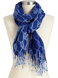 rope print scarf