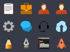 Flat Icon Set v2 by Adam Lindfors