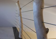 images of cable railing for lofts | Loft Railings : Cable railings through aspen logs anchored straight ...