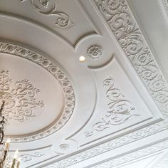 Ceiling moulding details in project pearl Drawing Room Ceiling Design, Plaster Ceiling Design, Gypsum Ceiling Design, House Ceiling Design, Bedroom False Ceiling Design, Luxury Bedroom Design, Ceiling Decor, Luxury Decor, Ceiling Ideas