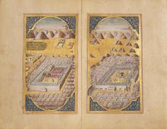 MUHAMMAD BIN SULAYMAN AL-JAZULI (D. 1465 AD): DALA'IL AL-KHAYRAT SIGNED IBRAHIM NA'ILI, OTTOMAN TURKEY, DATED AH 1176/1762-63 AD Prayers in honour of the Prophet Muhammad, Arabic manuscript on paper, 116ff. plus five fly-leaves, each folio with 11ll. of elegant black naskh script, with gold and polychrome rosette verse markers, some words picked out in red, text within gold, black and red rules, including three finely illuminated headpieces,----->