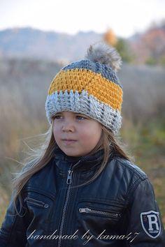 Detské čiapky - Zimná čiapočka háčkovaná - unisex