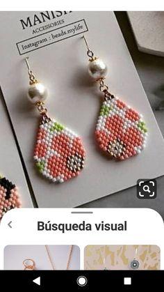 Beaded Earrings Native, Beaded Earrings Patterns, Bead Earrings, Bracelet Patterns, Seed Bead Jewelry, Bead Jewellery, Artisan Jewelry, Handmade Jewelry, Beaded Shoes
