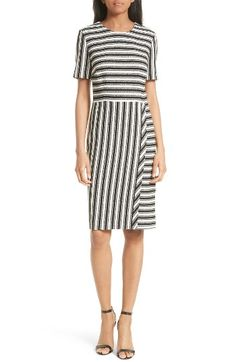 Free shipping and returns on BOSS Haripela Stripe Sheath Dress (Regular & Petite) at Nordstrom.com. Stripes going every which way create a fresh, graphic look on a polished sheath paneled from a supple ribbed knit.
