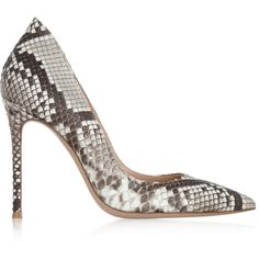 Python pumps (€645) ❤ liked on Polyvore featuring shoes, pumps, heels, gianvito rossi, snakeskin print shoes, heel pump, python pumps, snake print shoes and python print shoes