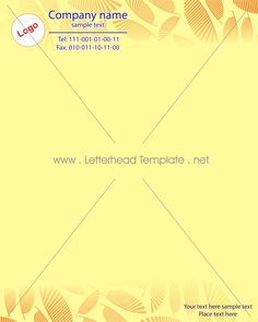 leafy design letterhead template preview