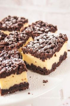 Sernik królewski Polish Desserts, Polish Recipes, Baking Recipes, Cookie Recipes, Dessert Recipes, Sweet Desserts, Sweet Recipes, Food Cakes, Cupcake Cakes