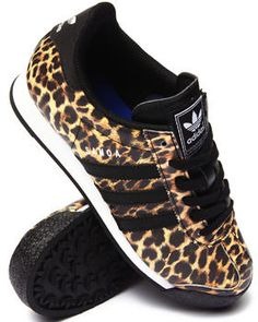 Classic Samoa sneakers by Adidas with a twist of the wild side. Get your sneaker game up.