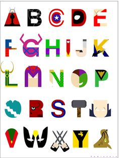 Marvel Alphabet by ~kamionero on deviantART