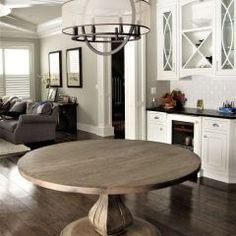 Rustic Elements Furniture custom builds round tables, available in your choice of wood, style, and distress. 60 Inch Round Table, Round Tables, Custom Furniture, Home Kitchens, Rustic, Wood, Kitchen Island, House, Bespoke Furniture