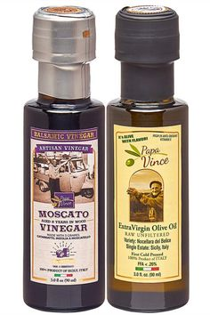 Papa Vince Infused Olive Oil Dipping Set: Classic Extra Virgin Harvest 2019/20, Balsamic Vinegar 8 yr aged, No Sugar Added, No Pesticides, No Roundup from our family, Sicily, Italy, 3 fl oz ea Balsamic Vinegar Of Modena, Aged Balsamic Vinegar, Sicily Italy, Organic Fruit, Ea, Gourmet Recipes, Olive Oil, Harvest, Belize