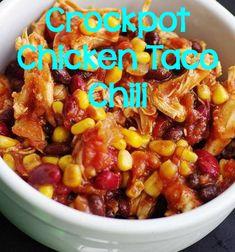 Great Crockpot recipe for chicken taco chili