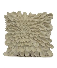 This Ivory Starburst Plush Petal Throw Pillow by Brentwood Originals is perfect! #zulilyfinds