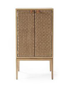 Caledonia Woven Bar Cabinet - Serena & Lily