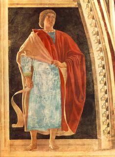332. Piero della Francesca - Storie della Vera Croce - Profeta Geremia - 1452-58 - Arezzo, Basilica di San Francesco
