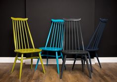 Pick n Mix Ercol Chairs - Mad About The House - ercol goldsmith chair restored by amy caisson of florrie and bill and spray painted in RAL colours - £175 each or £660 for 4 !