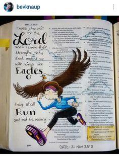 Bev Knaup bible journal Isaiah 40:31