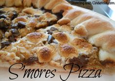 Papa Murphys Smores Pizza Copy Cat Recipe.  Doing this for dessert tonight!!