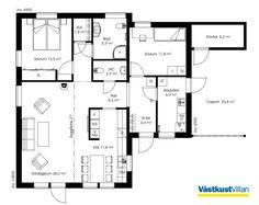 Schwedenhaus bungalow grundriss  Schwedenhaus eingeschossig SkandiHaus 113 Grundriss | Bungalow ...